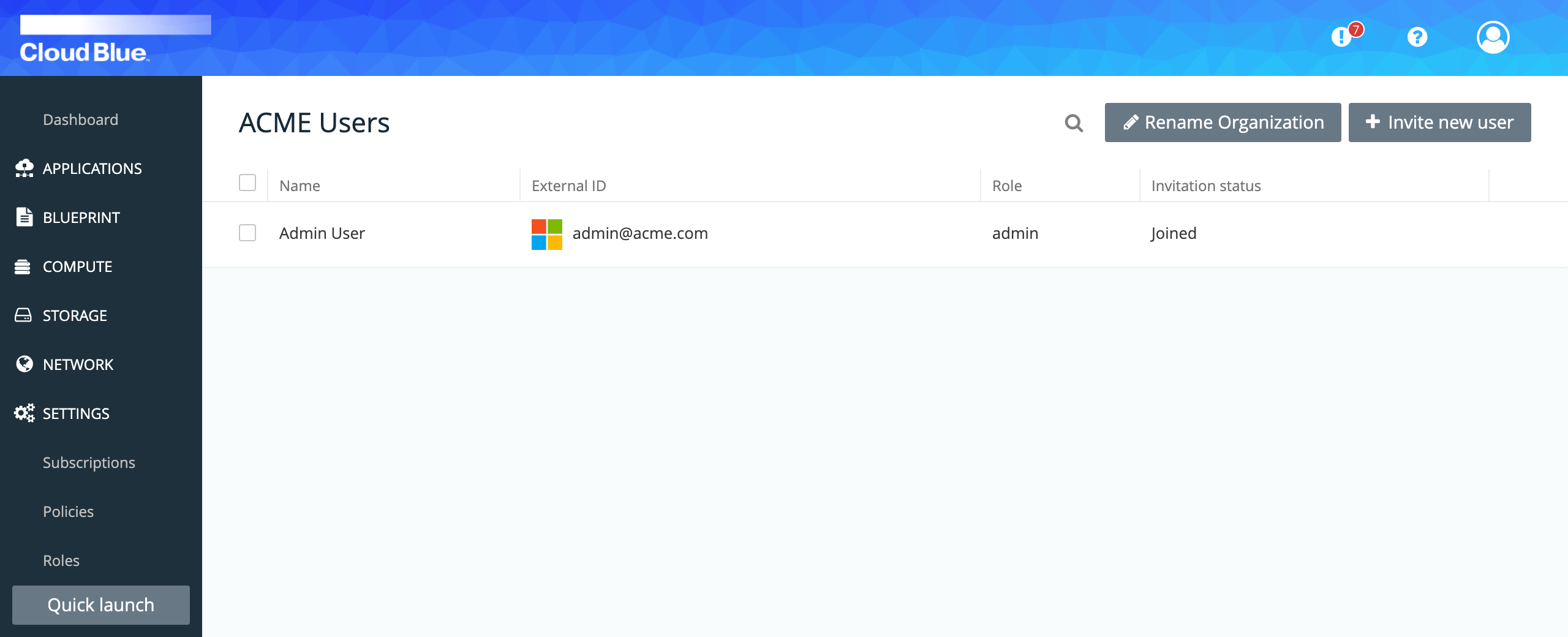 User accounts overview