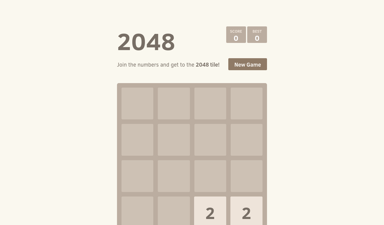 2048 game served by the container you deployed on a server