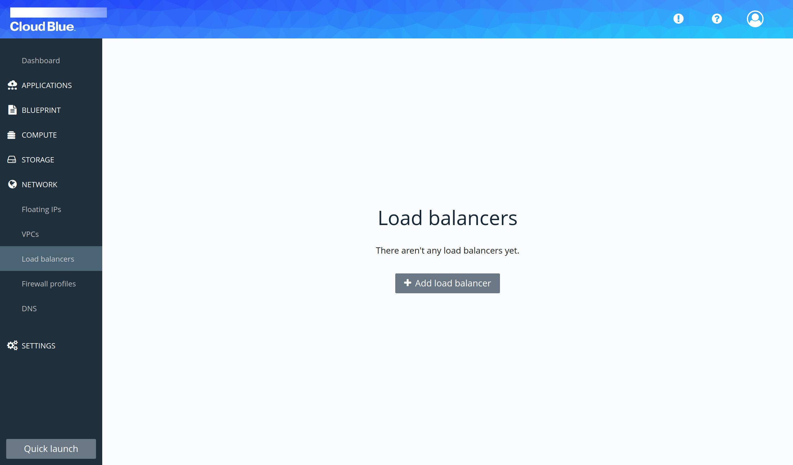 Load balancers section