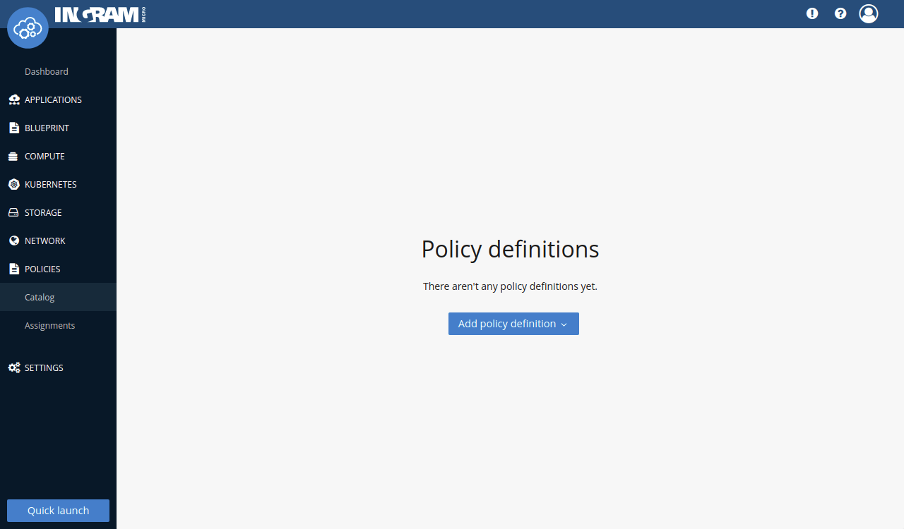Policies overview