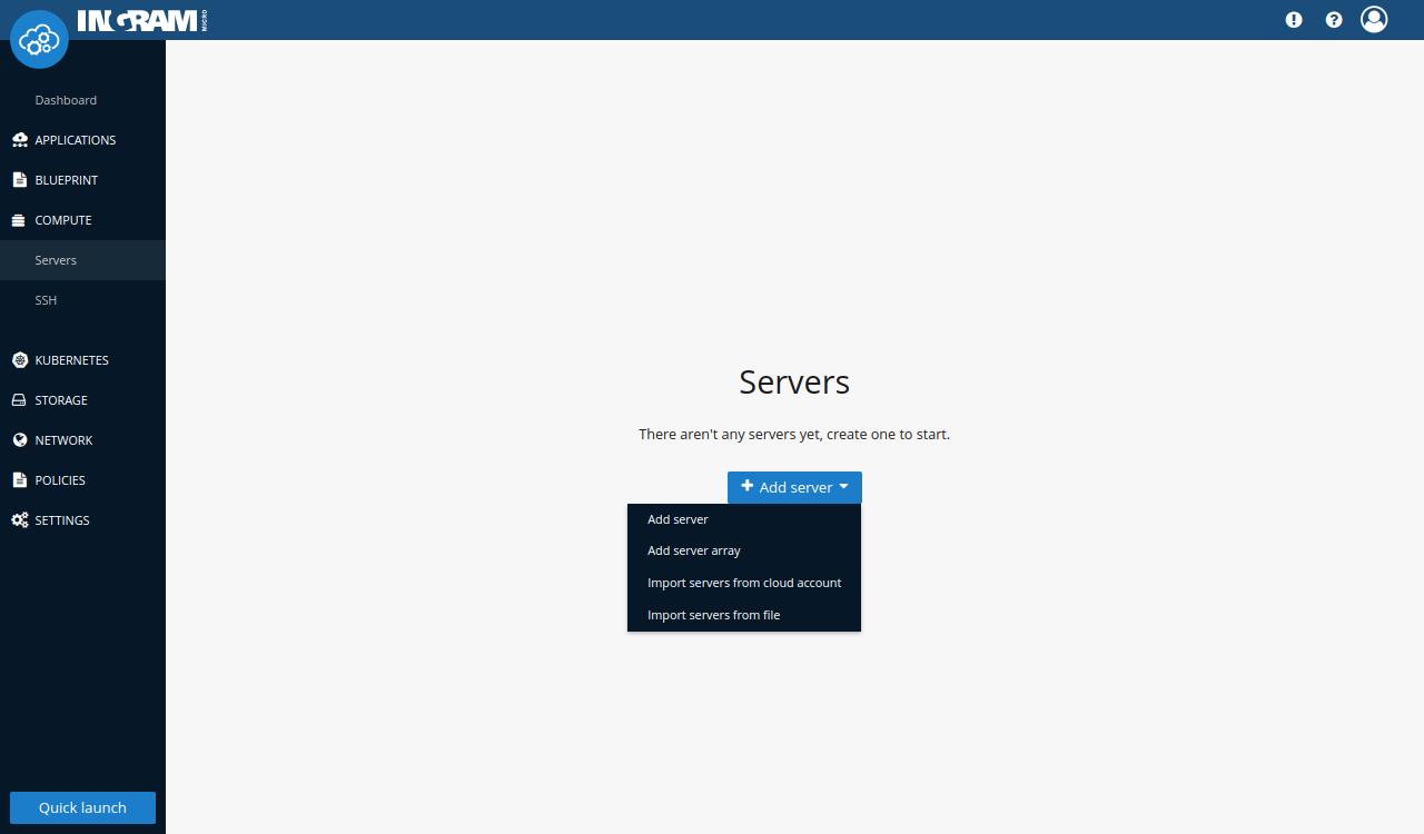 Servers creation select