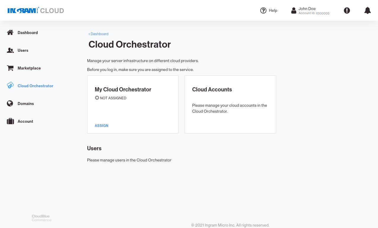 CloudBlue Commerce APS Panel