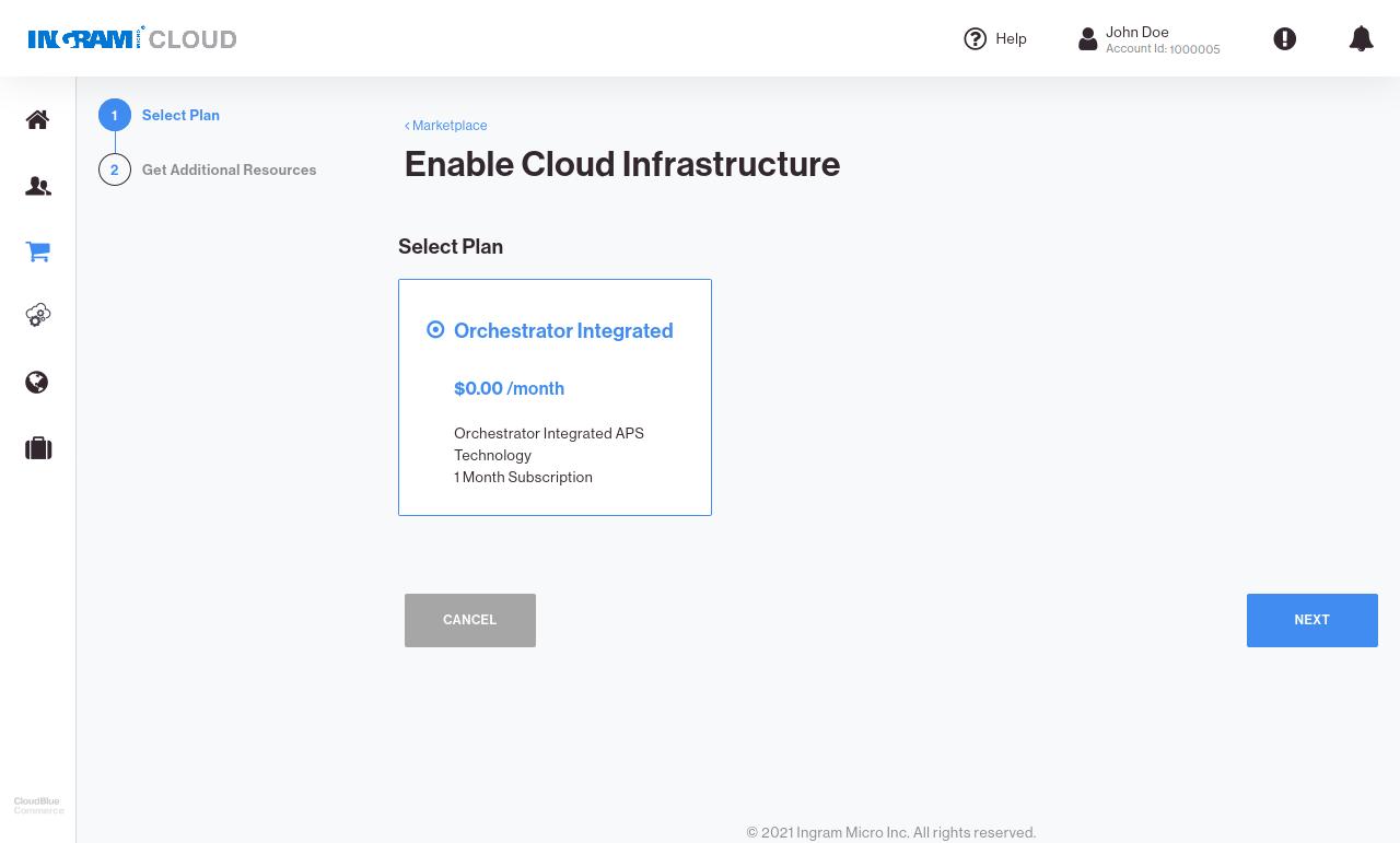 CloudBlue Commerce Marketplace APS Service Plans