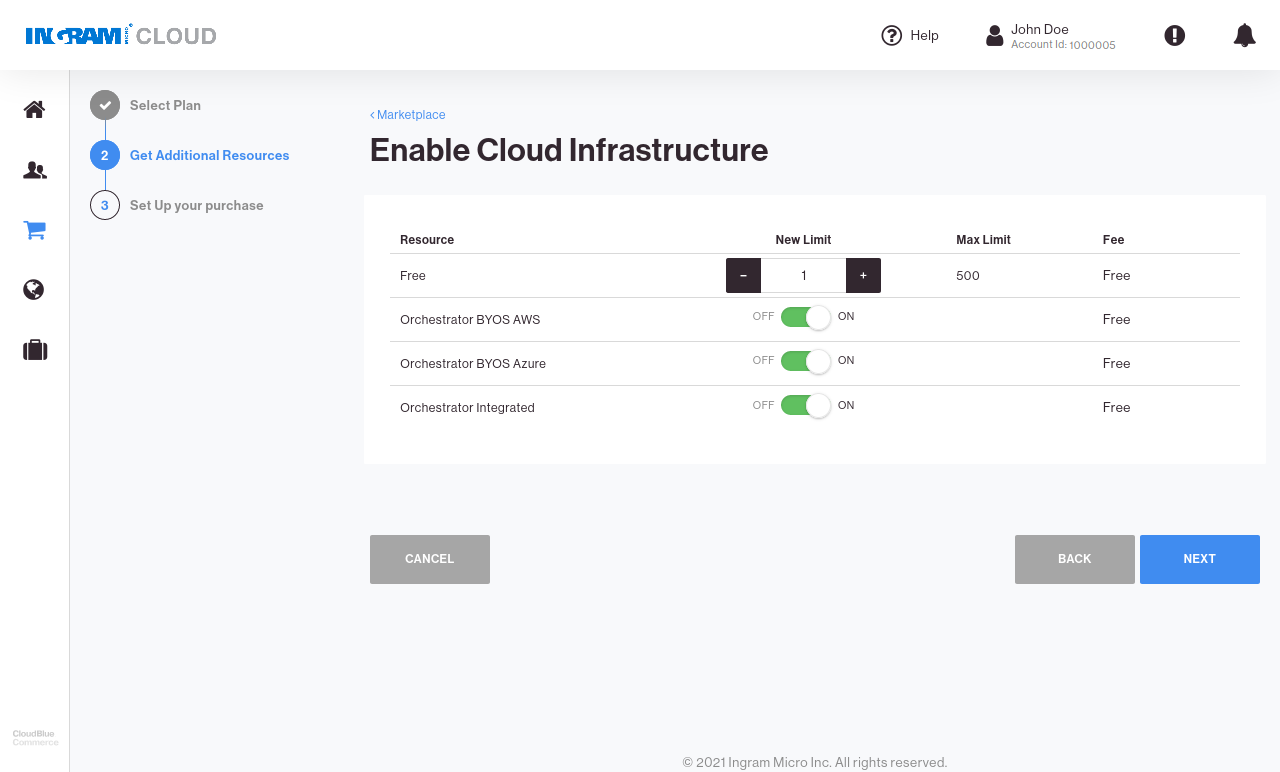 CloudBlue Commerce Marketplace Connect Service Model