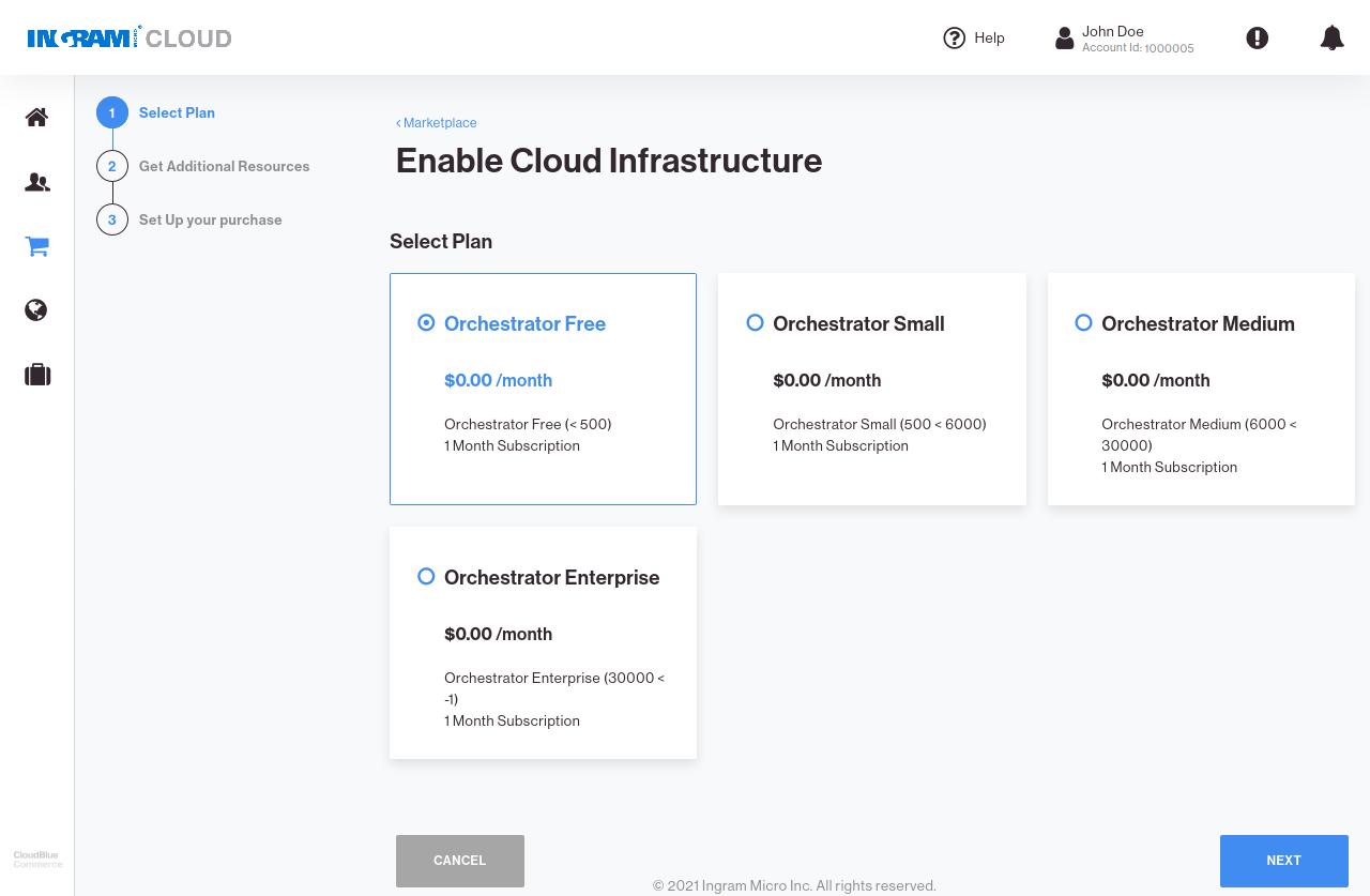 CloudBlue Commerce Marketplace Connect Service Plans