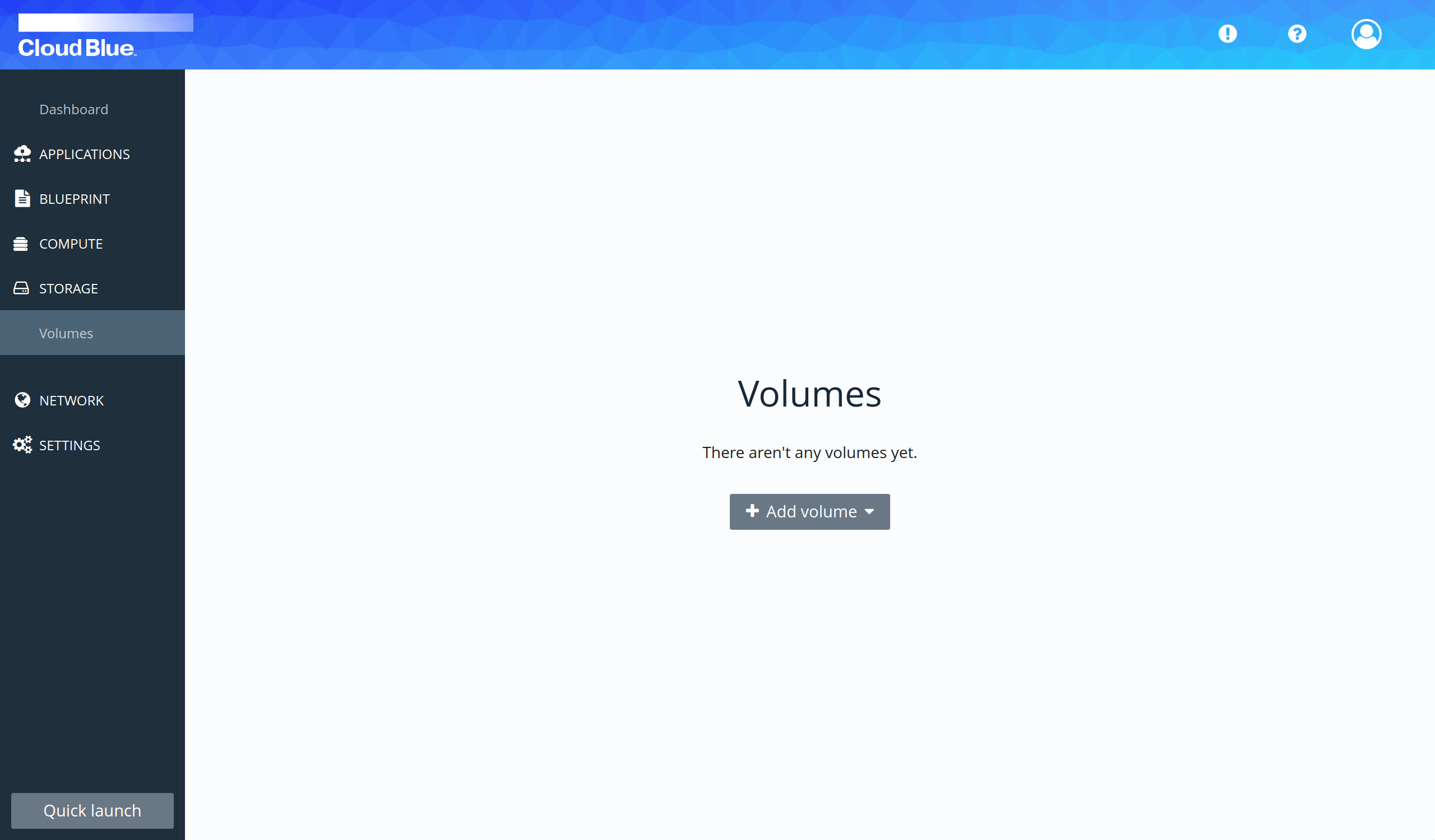Volumes section view